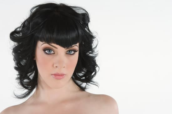 black hair with blue eyes